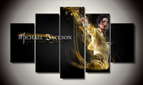 5 Piece Framed Music World Guru Michael Jackson Iconic Art - EpicKanvas