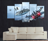 Empowered Living - 5PCS Framed Star Wars Millennium Falcon & X-Wing Canvas Prints - EpicKanvas