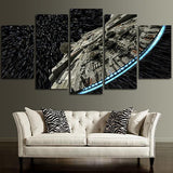 Framed 5 Piece Starwars Millennium Falcon Space Canvas-Falcon Art For Home/Office Decor - EpicKanvas