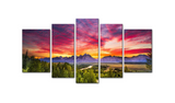 Empowered LivingTM - 5 Pcs Modern Canvas Grand TETON National Park Mountain & Landscape Print Wall Decor for Home and Office Beauty