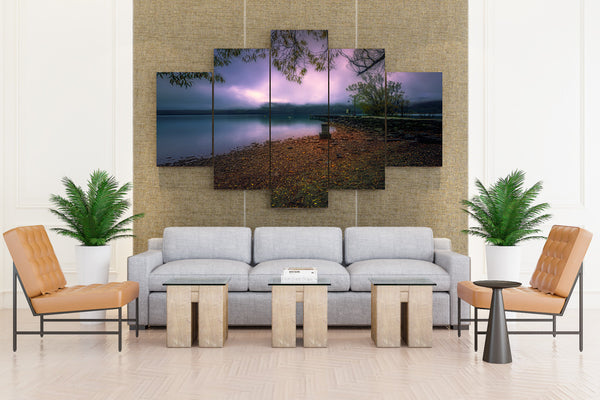 New Zealand Coast Evening Marinas Glenorchy - 5 piece Canvas