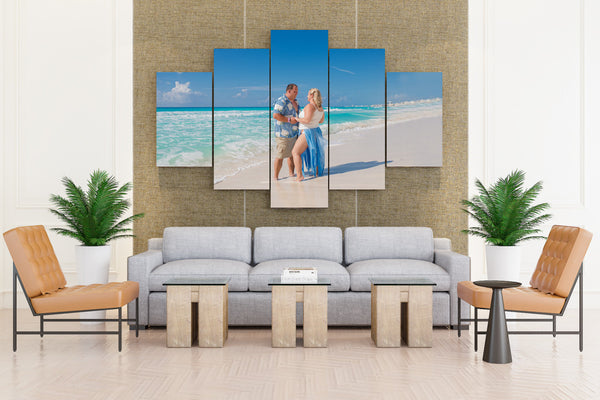 Sea Beach Sky - 5 piece Canvas - EpicKanvas