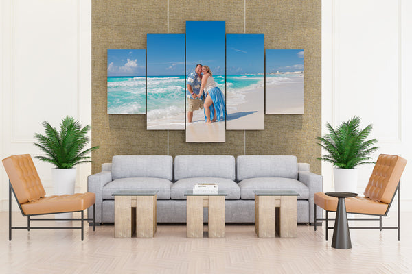 Sea Beach - 5 piece Canvas
