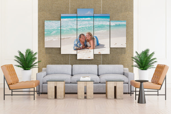 Natural Beach - 5 piece Canvas