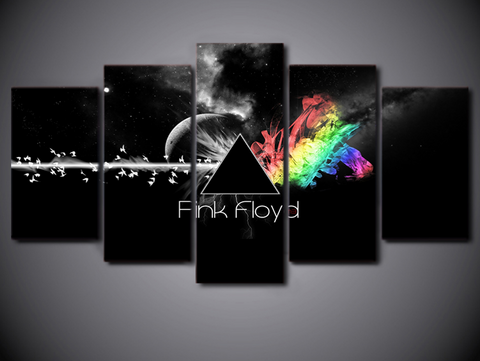 5 Pcs Framed Pink Floyd Canvas Prints - 5 piece Canvas for Home/Office