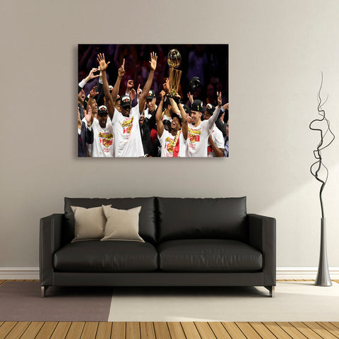 1 PCS Framed Toronto Raptors Basketball Canvas Art- 1 Piece First Time NBA Winner Raptors Wall Art for Office and Home Wall Decor