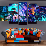 Epikkanvas EmPowered Living - 5 pcs Framed Shroom World Rick and Jojo 5 Pieces on Canvas Wall Decor