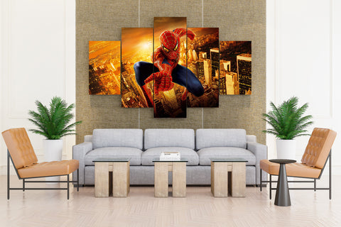 Superman on Mission - 5 piece Canvas
