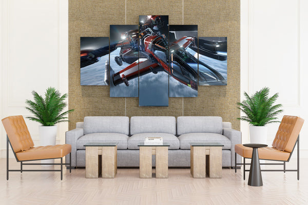 STAR CITIZEN Game Action Fighting - 5 piece Canvas - EpicKanvas
