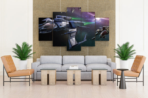 STAR CITIZEN Game Action - 5 piece Canvas