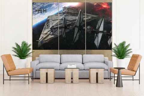 Star Wars Imperial Star Destroyer - 3 piece Canvas - EpicKanvas