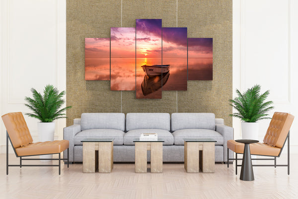 Scenery Rivers Sunrises and Sunsets - 5 piece Canvas - EpicKanvas