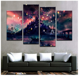 4PCS Tangled Beautiful Magical Scene Like Harry Potter Art For Your Home/Office Room - EpicKanvas