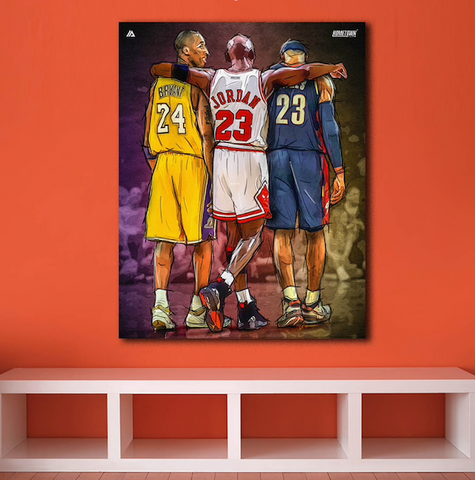 Michael Jordan Kobe Bryant Lebron James Basketball Player Canvas Art DesignCanvas Wall Art Home Decor - EpicKanvas