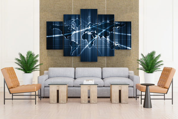 Sensor Deep Map  - 5 piece Canvas - EpicKanvas