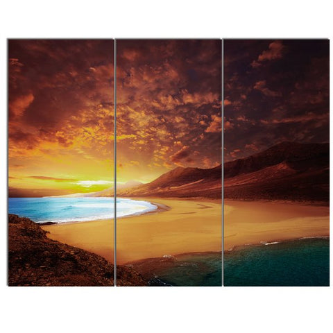 3Pcs Spain, Canary Islands, Fuerteventura, Sotavento beach Art For Your Home/Office Room - EpicKanvas