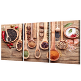 3 Pcs Framed Kitchen Spices & Masala Canvas for your Home/Office Space - EpicKanvas