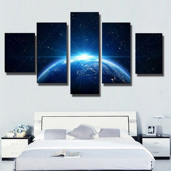 Home Office Sets Painted Office 5 Piece: 5Pcs Star Light From Earth Canvas Art For Home & Office