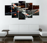 Framed Canvas Star Wars Space Fight - 5 Piece Canvas