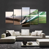 Framed Canvas Star Wars V2 Fight Painting - 5 Piece Canvas