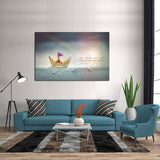 1 Piece Framed Success & Huddle Canvas Prints - 1 Piece Canvas Storm/Rainbow Analogy Artwork on Wall Art for Office and Home Wall Decor