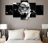 Framed Star Wars Stromtrooper Dark Side - 5 Piece Canvas