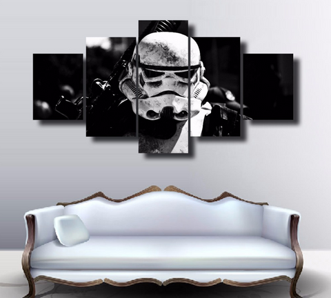 Framed Star Wars Stromtrooper Dark Side - 5 Piece Canvas - EpicKanvas