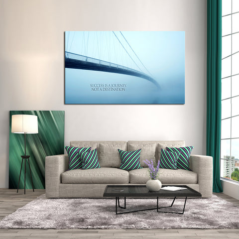 1 Piece Framed Success Is a Journey Canvas Prints - 1 Piece Canvas Success Inspiration Artwork on Wall Art for Office and Home Wall Decor