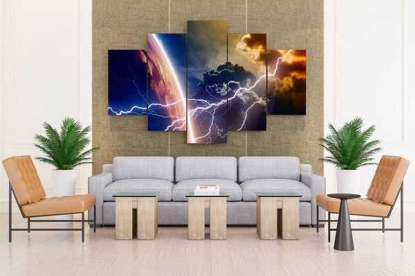 Surface of Planets - 5 piece Canvas - EpicKanvas