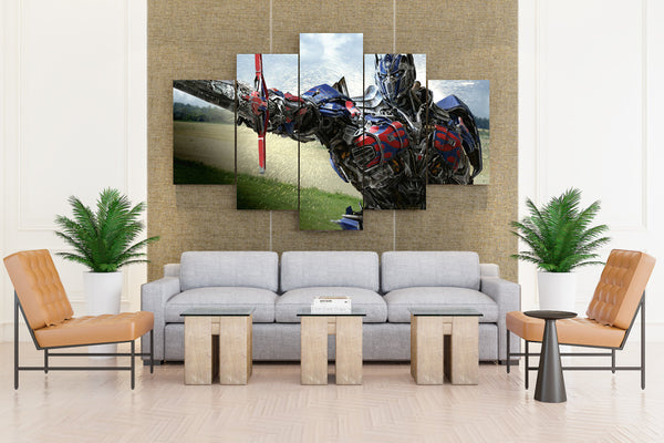TRANSFORMERS AGE EXTINCTION Action Adventure - 5 piece Canvas