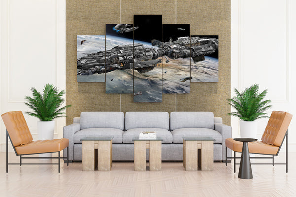 Technics Fantasy Ships - 5 piece Canvas - EpicKanvas