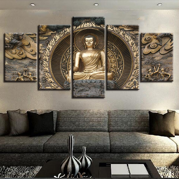 5 piece Buddha - 5 Pcs Buddha Artwork - Limited Edition - EpicKanvas
