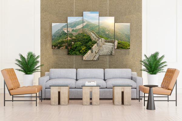 The Great Wall of China China Wall - 5 piece Canvas
