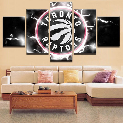 5 Pcs Framed Toronto Raptors Basketball Canvas Art For Home & Office Wall Decor - EpicKanvas