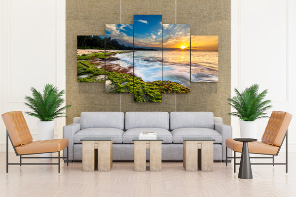 Tropics Sunrises And Sunsets Coast Scenery Sky - 5 piece Canvas