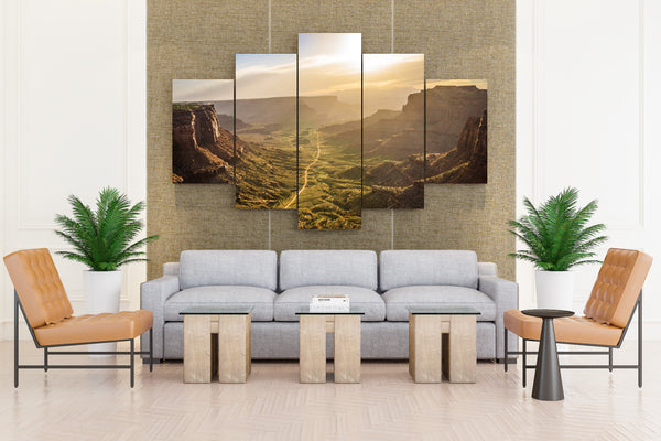 USA Parks Mesa Arch Canyonlands National Park Crag - 5 piece Canvas - EpicKanvas