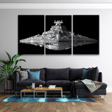 3 Pcs Framed Starwars USS Destroyer Artwork for your Home/Office Space - EpicKanvas