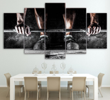 5 PCS Framed Workout Canvas - 5 piece Canvas For Office/Gym/Home/Living Room