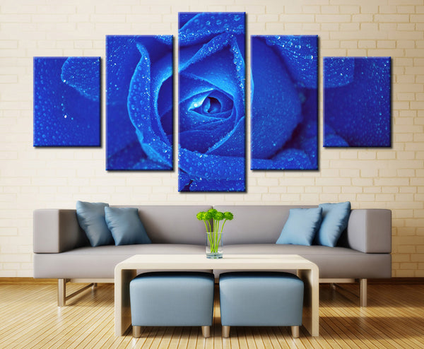 Blue rose - 5 piece Canvas