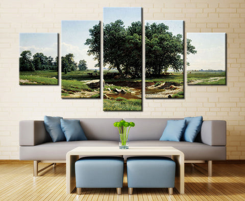 Natural Tree - 5 piece Canvas
