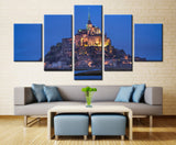 House on the hill - 5 piece Canvas