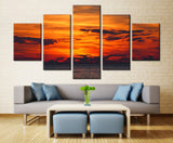 Evening sea and sky - 5 piece Canvas - EpicKanvas