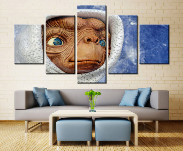 The Space Alien - 5 piece Canvas