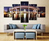 Round Bridge  - 5 piece Canvas