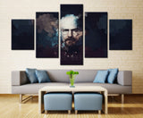 Walter White (Breaking Bad) Painting - 5 piece Canvas