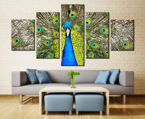 Peacock - 5 piece Canvas