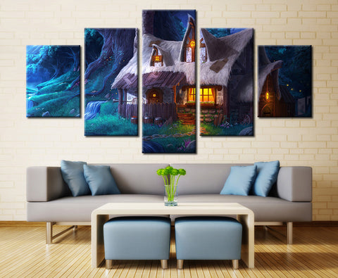 Hobbit House - 5 piece Canvas