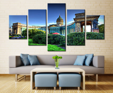 Natural garden - 5 piece Canvas