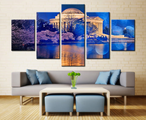 Monuments at Night - 5 piece Canvas - EpicKanvas