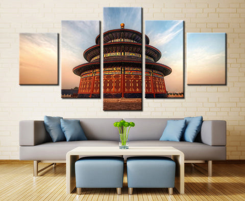 Temple Of Heaven - 5 piece Canvas